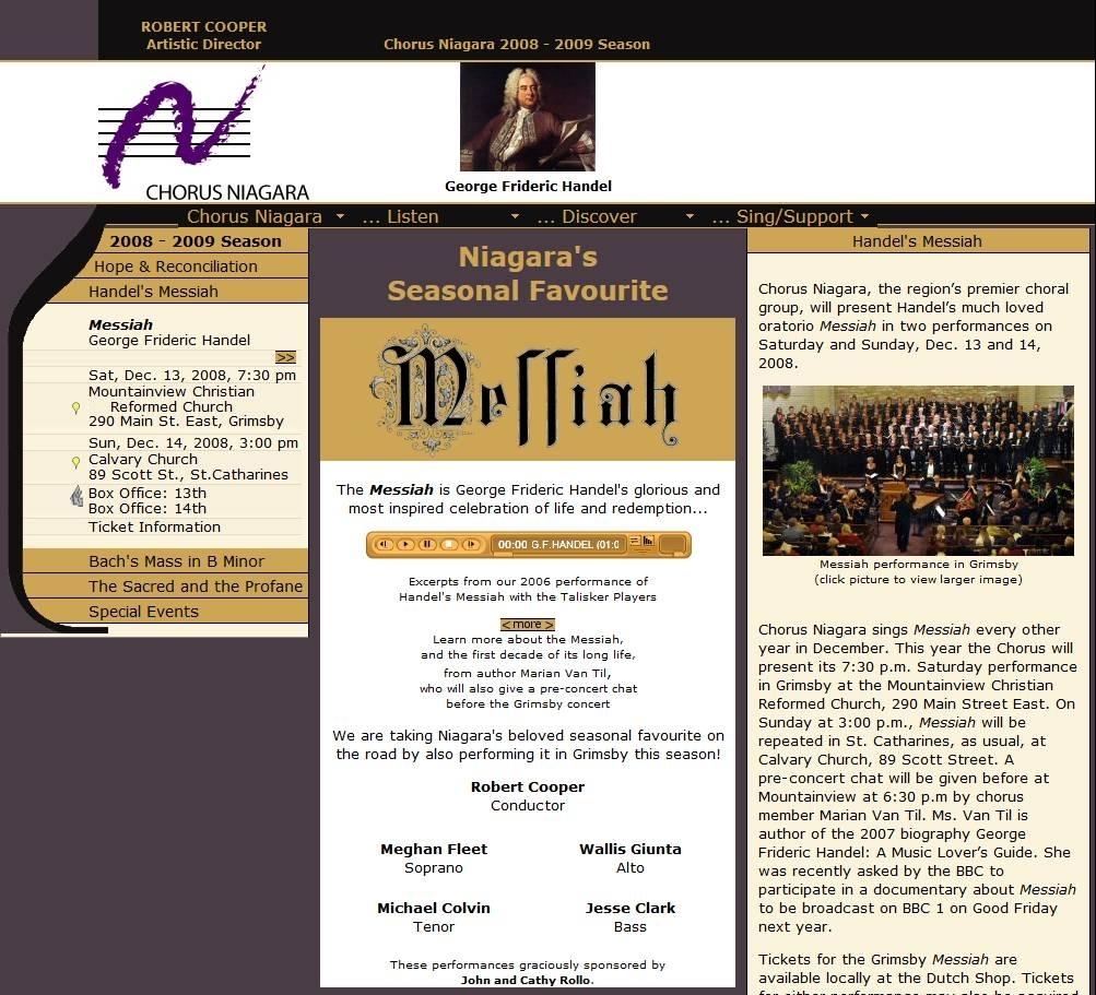--December 13, 2008 - Chorus Niagara