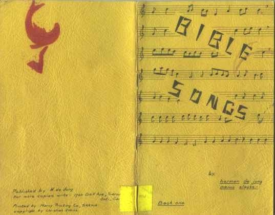 --Bible Songs booklet